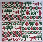 4 Ceramic Coasters in Emma Bridgewater Christmas Joy